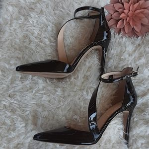 Jessica Simpson pointed toe ankle strap heels